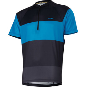 IXS Trail 6.1 Shortsleeve Jersey Men black/fluor blue